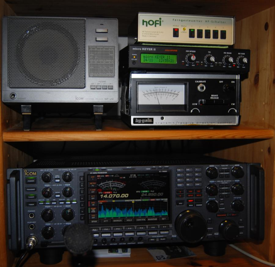 My station: ICOM 7800